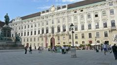 Inner square in Hofburg building in Vienna, Austria Stock Footage