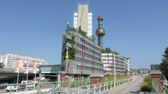 The thermal plant of Ferwarme in Vienna Stock Footage