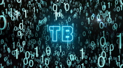 Bluish TB concept with digital code Stock Footage