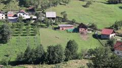 Mountain village rural landscape Stock Footage