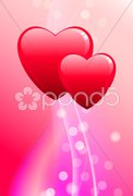 Abstract Valentine's Day Background Original Vector Illustration - stock photo