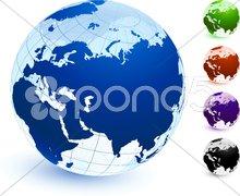 Multi Colored Globe set Stock Illustration