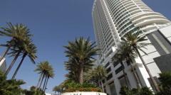 Miami Beach Florida Fontainebleau Hotel Stock Footage