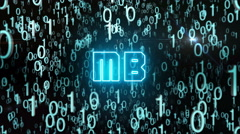 Bluish MB concept with digital code Stock Footage
