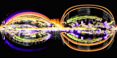Virtual reality video of streaming data and video flux - 360 VR Data Storm 3601 - stock footage
