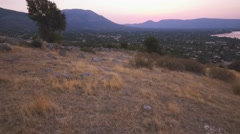 Hilltop Sunrise in Evia, Greece - Steadicam Stock Footage