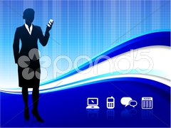 Wireless internet communication background - stock photo