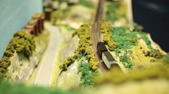 Miniature Model Scale Railway Steam Train with wagons is driving-Dan Stock Footage