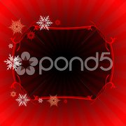 Red Holiday Frame Stock Illustration