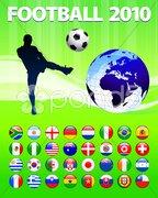 2010 Global Soccer Football Match Stock Illustration