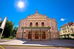 Slovenian national theatre in Ljubljana Stock Photos