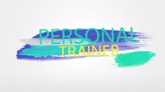 Personal trainer buzzword animation Stock Footage
