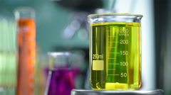 Laboratory, Modifying color in magnetic agitator Stock Footage