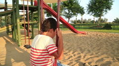 Portrait of a depressed child  Stock Footage