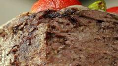 Doner kebab, the most popular food in Turkey Stock Footage