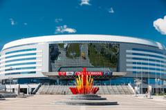The building of the sports complex Minsk Arena in Minsk, Belarus Kuvituskuvat