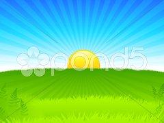 Sunset internet background Stock Illustration