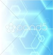 Hexagon Shapes on Colorful Abstract Background Stock Illustration