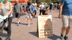 Farmers market at front of the Union Station. Stock Footage