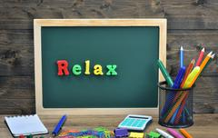 Relax word Kuvituskuvat