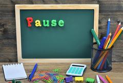 Pause word Stock Photos