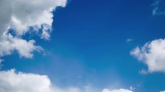 Moving clouds on blue sky Stock Footage