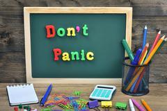 Don't panic word Kuvituskuvat
