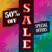 Attractive Sale banner advertisement Stock Illustration