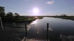 Sunset Marsh Stock Footage