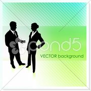 Business Couple on Vector Background Stock Illustration