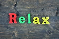 Relax on wooden table Kuvituskuvat