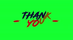 4 Animated Green Screen Text THANK YOU Stock Footage