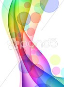 Colorful Abstract Wave Background Stock Illustration