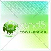 Globe on Vector Background - stock photo