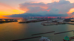 AERIAL - Sunset - Amazing View of Dusk Stock Footage