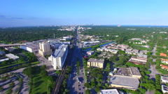 AERIAL - View of US1 in Miami Florida Stock Footage