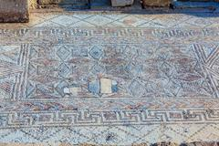 Ancient Mosaics in the Archaeological Site, Paphos - stock photo