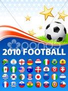 2010 World Soccer Football Match Stock Illustration