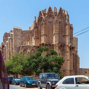 Famagusta gothic Cathedral, North Cyprus Stock Photos