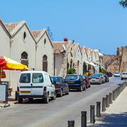 Typical old city houses, Famagusta, North Cyprus Stock Photos