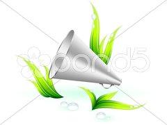 Environmental talk Background Stock Illustration