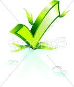 Environmental ckeck mark Stock Illustration