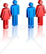 Stick Figure Couple Stock Illustration