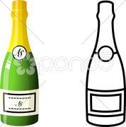 Champagne Bottle Piirros