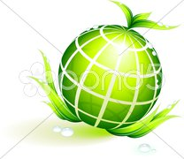 Globe Green Environmental Conservation Background Stock Illustration