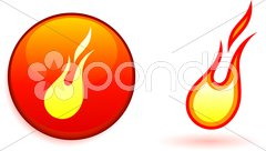 Flame and fire design elemets Stock Illustration