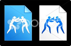 Boxing stick figure background Piirros