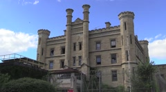 Joliet Prison close up Stock Footage
