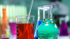 Chemical, Science, Laboratory, Test Tube, Equipment Stock Footage
