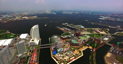 Yokohama Japan Aerial Footage Stock Footage